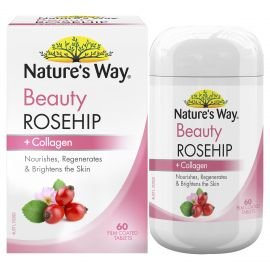 Nature's Way Beauty Rosehip + Collagen Tablets