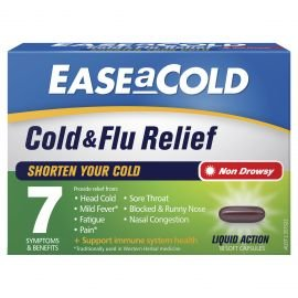 EASEaCOLD Cold & Flu Relief 18 Capsules