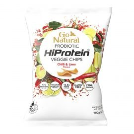 Go Natural Probiotic HiProtein Veggie Chips Chilli & Lime Flavour 100g