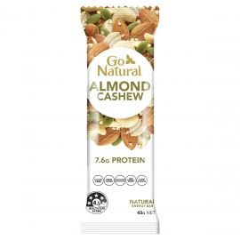 Go Natural Natural Energy Bar Almond Cashew 45g