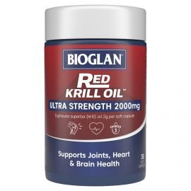 BIOGLAN - Red Krill Oil Ultra Strength 2000mg 30 Capsules