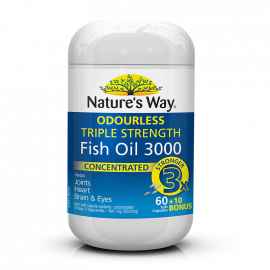 Nature's Way Fish OIL TRIPLE STRENGTH FISH OIL  60+10