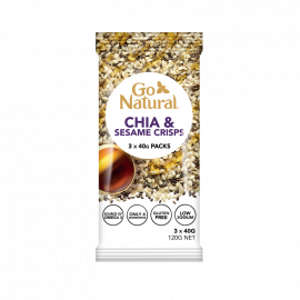 Go Natural Chia & Sesame Crisps 120g (Box of 12)