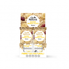 Go Natural Baked Muesli Banana (97% Fat Free) 90g (Box of 12)