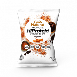 Go Natural Probiotic HiProtein Veggie Chips - Barbecue Flavour 100g (Box of 5)