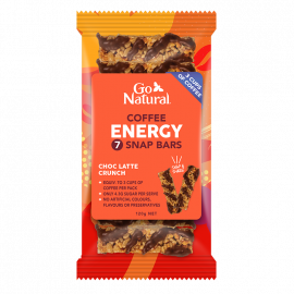 Go Natural Energy Snap Coffee Latte Snap Bars 120g (Box of 10)