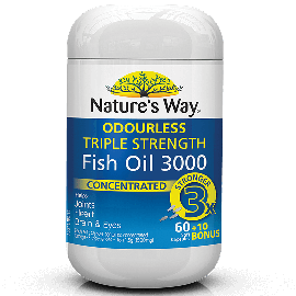 Nature's Way Fish OIL TRIPLE STRENGTH FISH OIL  60+10 Capsules