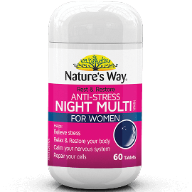 Nature's  Way Rest & Restore Anti Stress Night Multivitamin for Women