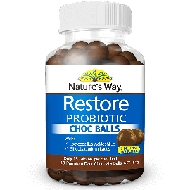 Nature's Way Restore Probiotic Choc Balls 60s