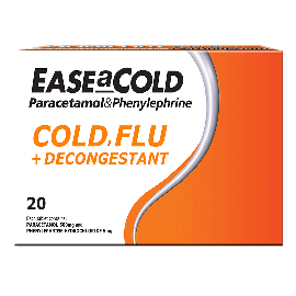 EaseACold Cold, Flu + Decongestant 20s