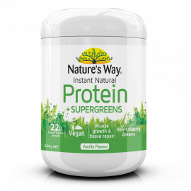 NATURE'S WAY INSTANT NATURAL PROTEIN + SUPERGREENS 300g
