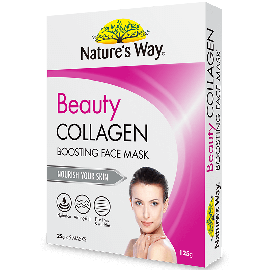 Nature's  Way Beauty Collagen Boosting Face Mask 5 pack