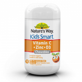 Nature's Way Kids Smart Vitamin C + Zinc + D3 Chewables 75's