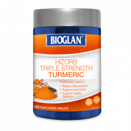 Bioglan Hi-Zorb Triple Strength Turmeric 100 Tablets