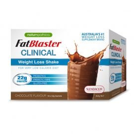 Naturopathica FatBlaster Clinical Weight Loss Shake Chocolate Flavour 954g 18 Pack