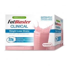 Naturopathica FatBlaster Clinical Weight Loss Shake Strawberry Flavour 954g 18 Pack