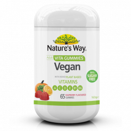 Nature's Way Adult Vita Gummies Vegan, 99% Sugar Free 65's